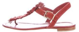 Gianvito Rossi Fringe-Embellished Sandals