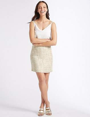 M&S Collection Textured A-Line Midi Skirt