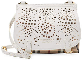 c6d6289002eb at Gilt · Burberry Baby Bridle Perforated Haymarket Check Leather Crossbody