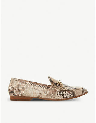 Dune Guiltt croc-embossed leather loafers