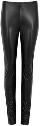 M Missoni Black Faux Leather Leggings