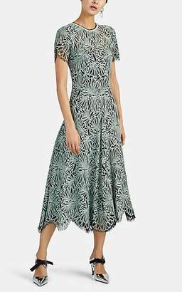 Proenza Schouler Women's Floral Lace Midi-Dress - Lt. Green