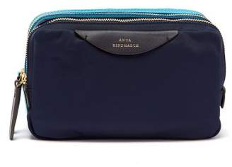 Anya Hindmarch Stack Triple Make Up Bag - Womens - Blue Multi
