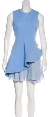 Cushnie et Ochs Asymmetrical Peplum Dress