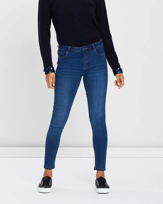 Dorothy Perkins Ashley Short Statement Skinny Jeans