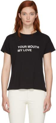 Rag & Bone Black Your Mouth My Love T-Shirt