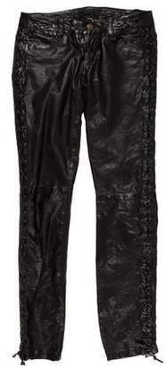 AllSaints Mid-Rise Leather Pants