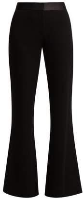Diane von Furstenberg Garnett Crepe Kick Flare Trousers - Womens - Black