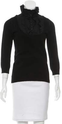 Robert Rodriguez Long Sleeve Ruffle-Accented Top
