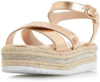 Dorothy Perkins Womens *Head Over Heels Krystal Ladies Flat Sandals