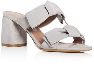 Tabitha Simmons Women's Barbi Suede Block Heel Slide Sandals