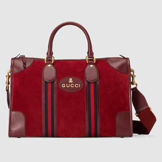 Gucci (グッチ) - 〔ネオ ヴィンテージ〕ウェブ スエード ダッフルバッグ
