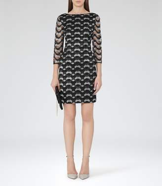 Reiss Mirte Embroidered Bodycon Dress