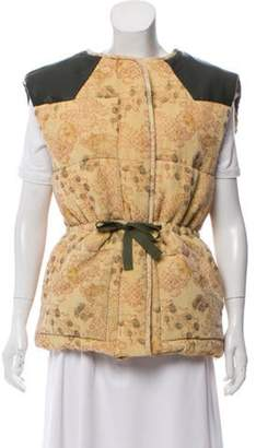 Isabel Marant Patterned Puffer Vest w/ Tags brown Patterned Puffer Vest w/ Tags