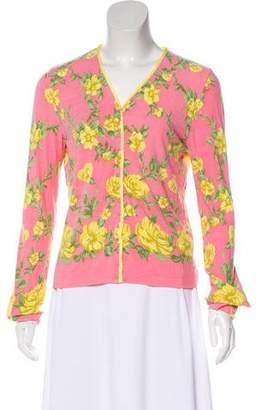 Blumarine Lightweight Floral Cardigan