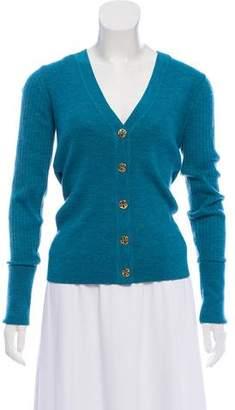 Tory Burch Long Sleeve Rib Knit Cardigan