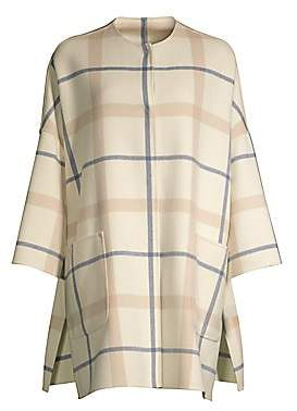 Max Mara Women's Alfa Plaid Virgin Wool-Blend Coat