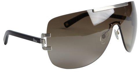 Christian Dior black metal wrap shield 'Dior Graphix 1' sunglasses