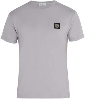 Stone Island Logo-appliqué cotton T-shirt