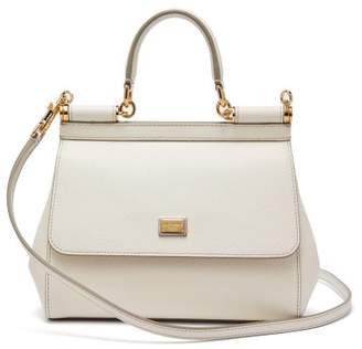 102295a9b02b Dolce   Gabbana Sicily Small Dauphine Leather Bag - Womens - White