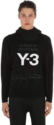 Y-3 Mohair Blend Knit Sweatshirt Hoodie