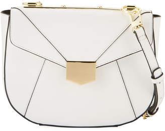 Neiman Marcus Crest Flap Crossbody Bag