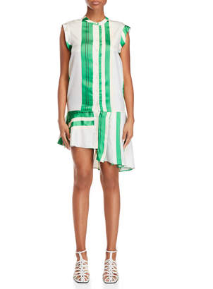 Alysi Stripe Pleated Shirtdress