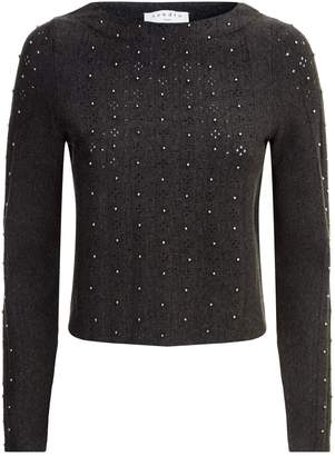 Sandro Bead Detail Cropped Sweater