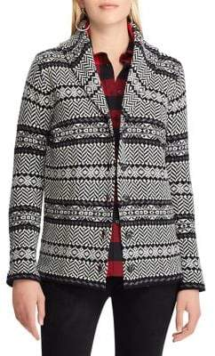 Chaps Shawl Collar Buttoned Cardigan