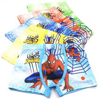 Spiderman YUMILY 3-8 Years Boys Boxer Briefs Cotton Character Underwear,5 Pack