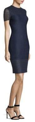 St. John Knit Trim Sheath Dress