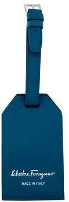 Salvatore Ferragamo Leather Luggage Tag w/ Tags