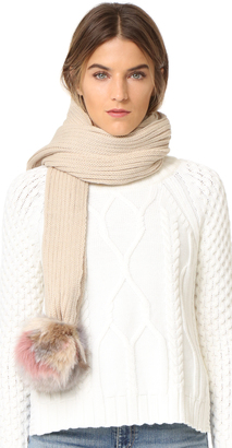 Jocelyn Scarf with Fox Pom Poms $195 thestylecure.com