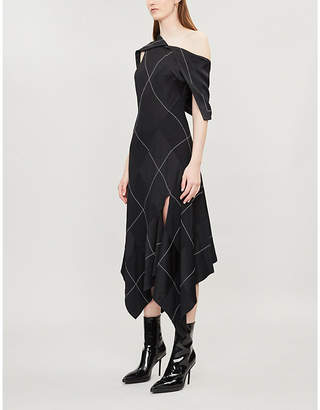Monse Argyle satin-crepe dress