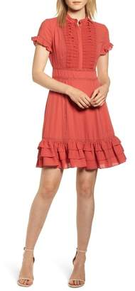 Rebecca Minkoff Ariel Tiered Ruffle Hem Dress