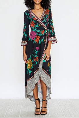 Flying Tomato Wrap floral dress