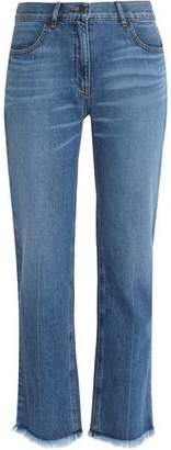 Theory Frayed Mid-Rise Bootcut Jeans