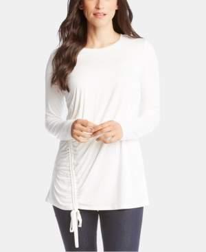 Karen Kane Drawstring Long-Sleeve Top