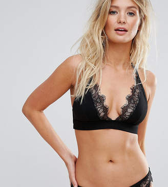 Wolfwhistle Wolf & Whistle Exclusive lace cami bikini top B - F Cup in black