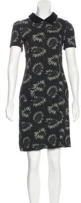 Marni Floral Print Collared Dress