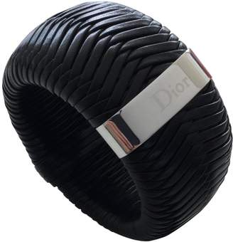 Christian Dior Black Leather Bracelets