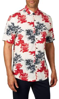 7 Diamonds Habanero Trim Fit Print Sport Shirt
