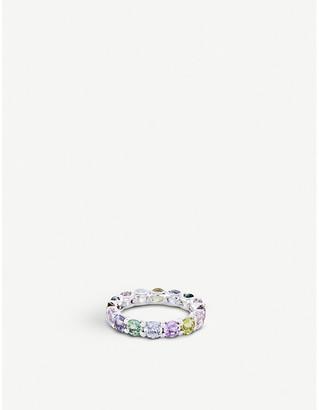 BUCHERER JEWELLERY Pastello 18ct white-gold and sapphire ring
