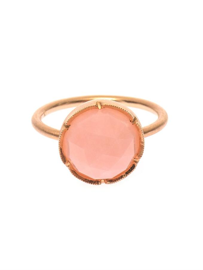 Irene Neuwirth Pink-opal & rose-gold ring