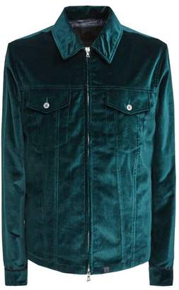 Pretty Green Zip Through Velvet Jacket