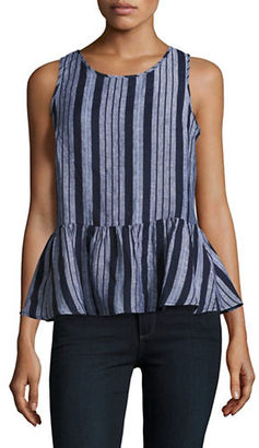 Lord & Taylor Linen Peplum Shell Top $68 thestylecure.com