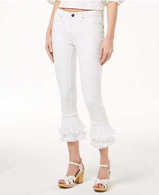 1 STATE 1.state Tiered Flared Jeans