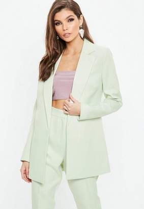 Missguided Mint Green Boyfriend Blazer