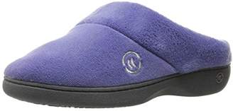 Isotoner Women's Terry Slip On Cushioned Slipper with Memory Foam for Indoor/Outdoor Comfort and Arch Support