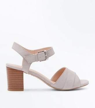 New Look Grey Comfort Flex Suedette Block Heels